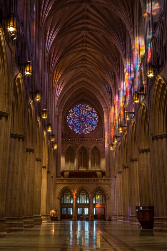 National Cathedral Stained Glass Light